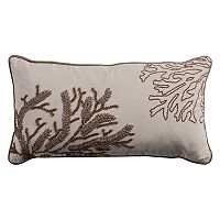 Rizzy Home Embellished Coral Oblong Throw Pillow