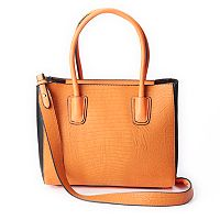 Mellow World Arianna Reptile Skin Print Embossed Satchel