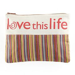 love this life Striped Pouch