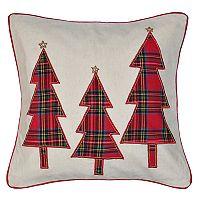 Spencer Home Decor Three Plaid Trees Holiday Throw Pillow