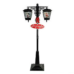 Northlight 74-in. Pre-Lit Musical Street Lamp Indoor / Outdoor Christmas Decor