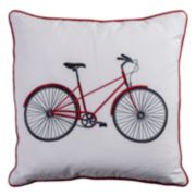 Rizzy Home Bicycle Embroidered Throw Pillow