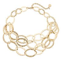 Dana Buchman Multi Strand Marquise Link Necklace