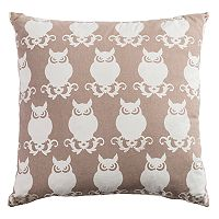 Rizzy Home Owl Print Throw Pillow