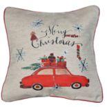 """Spencer Home Decor """"Merry Christmas"""" Car Holiday Throw Pillow"""