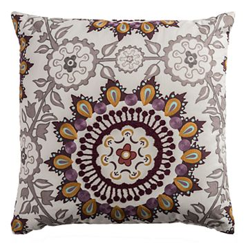 Rizzy Home Embroidered Medallion Throw Pillow