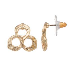 Dana Buchman Hammered Cluster Drop Earrings