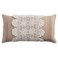 Rizzy Home Crochet Oblong Throw Pillow