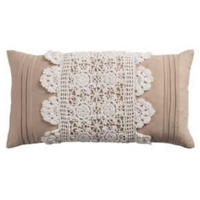 Rizzy Home Crochet Oblong Throw Pillow