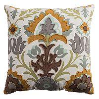 Rizzy Home Floral Flourish Throw Pillow