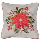 Spencer Home Decor Poinsettia Holiday Throw Pillow