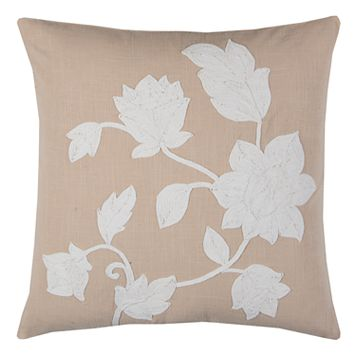 Rizzy Home Floral Silhouette Throw Pillow