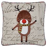 Spencer Home Decor Red Nose Holiday Throw Pillow