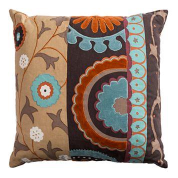 Rizzy Home Medallion Applique Throw Pillow