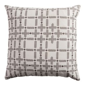 Rizzy Home Embroidered Geometric Throw Pillow