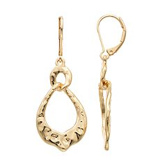 Dana Buchman Hammered Crinkle Teardrop Earrings