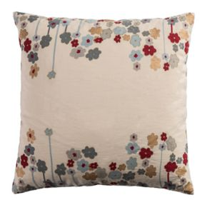 Rizzy Home Contemporary Floral Throw Pillow