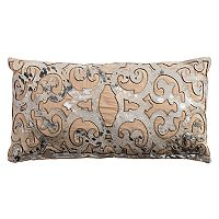 Rizzy Home Geometric Foil Print Oblong Throw Pillow