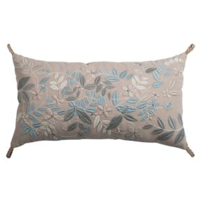 Rizzy Home Embroidered Floral Oblong Throw Pillow