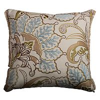 Rizzy Home Elegant Floral Throw Pillow