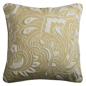 Rizzy Home Floral Damask Throw Pillow