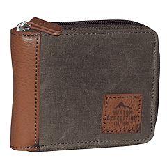 Buxton Expedition RFID-Blocking Huntington Gear Zip-Around Wallet
