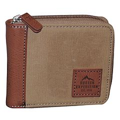 Buxton Expedition RFID-Blocking Huntington Gear Zip-Around Wallet