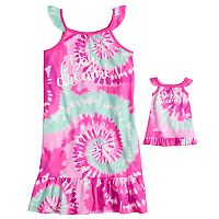 Girls 4-14 & Plus Size SO® Flutter Sleeve Knee Length Nightgown & Doll Nightgown