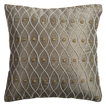 Rizzy Home Beaded Throw Pillow