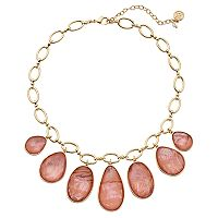 Dana Buchman Simulated Abalone Teardrop Statement Necklace