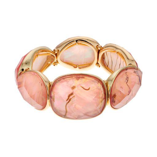Dana Buchman Simulated Abalone Round & Teardrop Stretch Bracelet