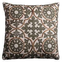 Rizzy Home Medallion Appliques Throw Pillow