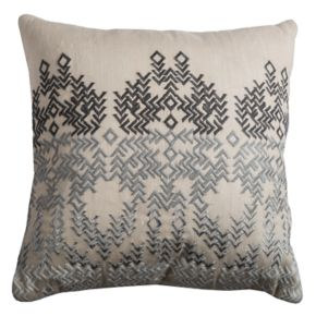 Rizzy Home Embroidered Ombre Medallion Throw Pillow