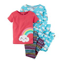 Toddler Girl Carter's 4 pc Rainbows & Clouds Pajamas Set