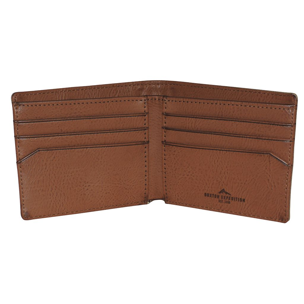 Buxton Expedition RFID-Blocking Huntington Gear Slimfold Wallet