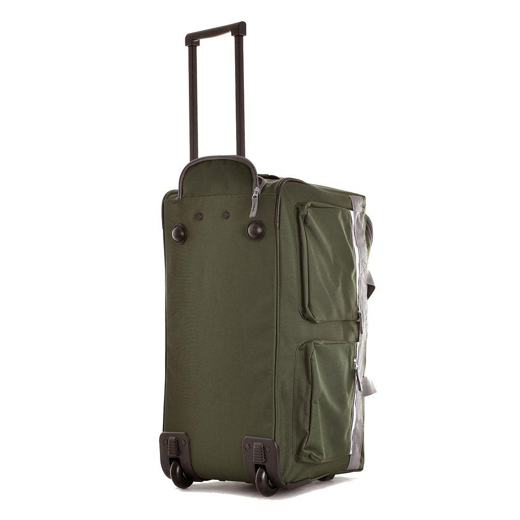 Olympia 22-Inch 8-Pocket Wheeled Duffel Bag