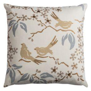 Rizzy Home Glitter Birds Throw Pillow