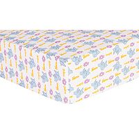 Trend Lab Dr. Seuss Horton Deluxe Flannel Fitted Crib Sheet