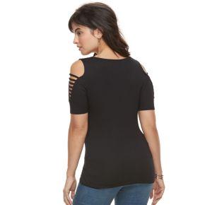 Women's Rock & Republic® Strappy Cold-Shoulder Tee