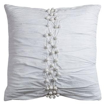Rizzy Home Pom-Pom Throw Pillow
