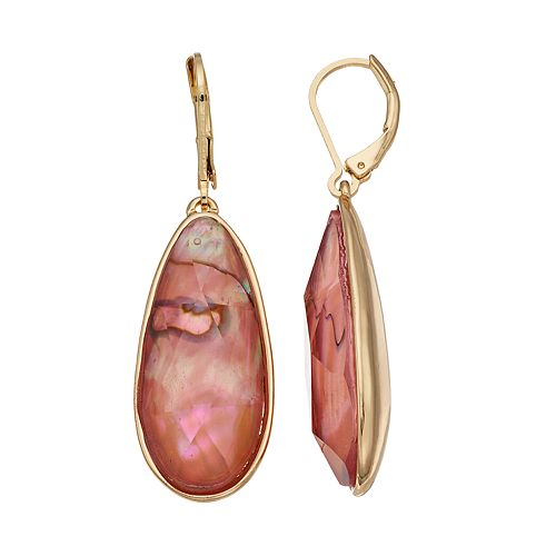 Dana Buchman™ Simulated Abalone Teardrop Earrings