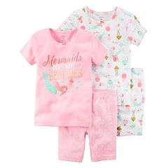 Toddler Girl Carter's 'Mermaids Don't Have Bedtimes' Tops & Bottoms Pajama Set