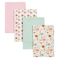 Trend Lab 4 pkElephants & Owls Flannel Blankets
