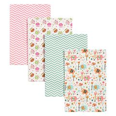 Trend Lab 4-pk. Elephants & Owls Flannel Blankets