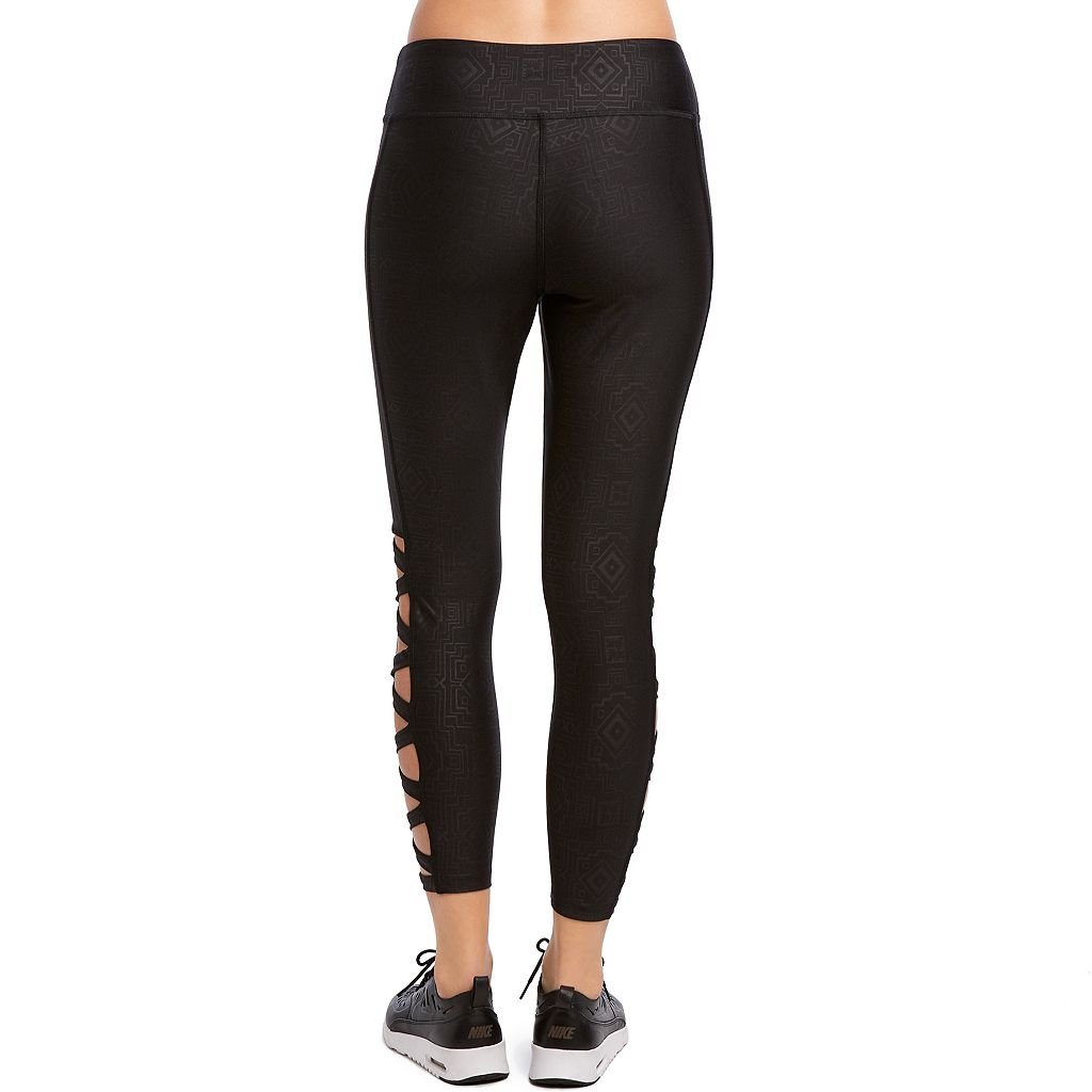 Women's Jockey Sport Geometric Embossed Ankle Leggings