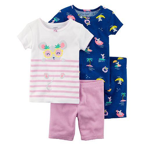 bc44ad380528 Toddler Girl Carter s Mouse   Nautical Tops   Bottoms Pajama Set