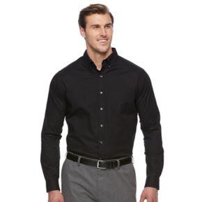 Big & Tall Croft & Barrow® Classic-Fit Stretch Woven Button-Down Shirt