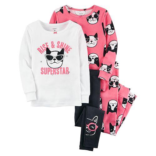 Toddler Girl Carter s 4-pc. Boston Terrier Dog Pajamas Set 1753d4acb