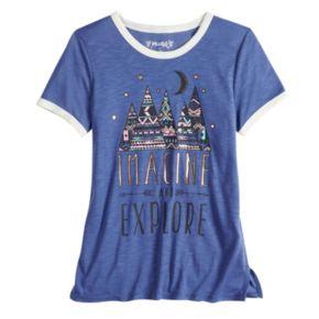Girls 7-16 & Plus Size Mudd® Ringer Graphic Tee