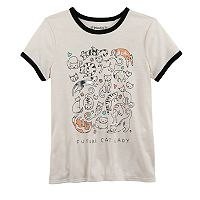 Girls 7-16 & Plus Size Mudd® Ringer Graphic Tee